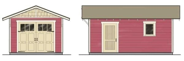 Garage House Plans With Apartments Two Story One Car Garage Apartment Historic Shed