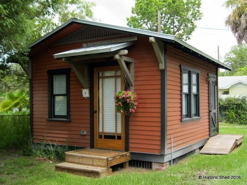 Guest house adds livability to historic home historic for Sheds brooksville fl