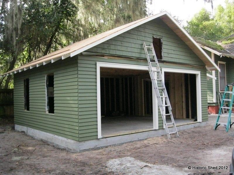 Bunaglow two car garage installation