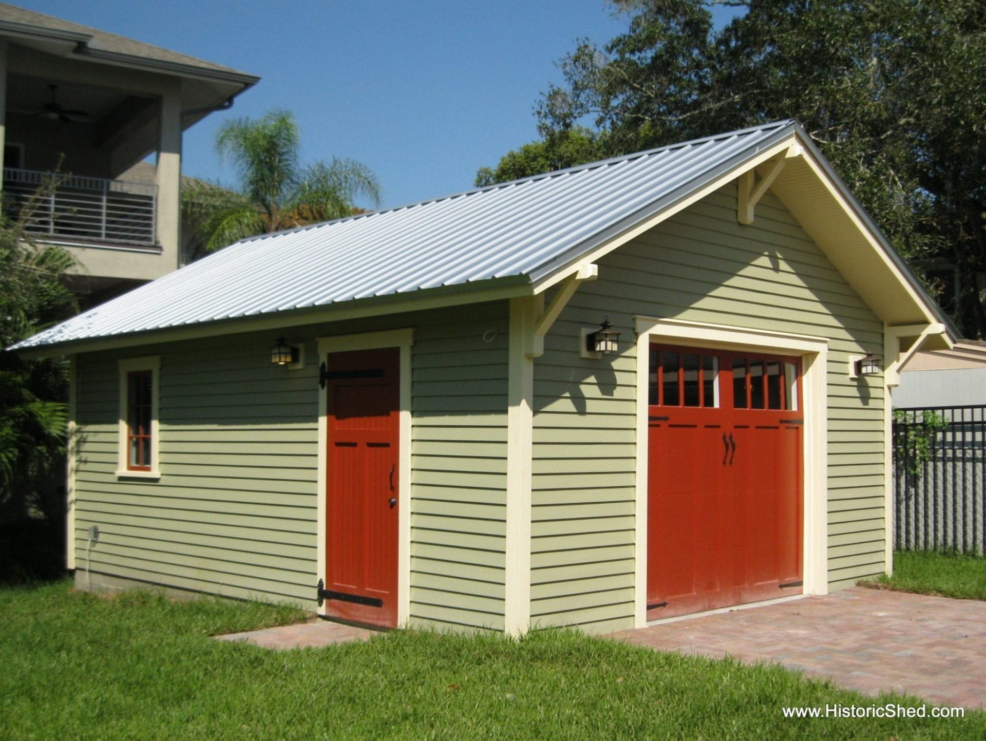 A One Car Bungalow Garage Historic Shed Florida