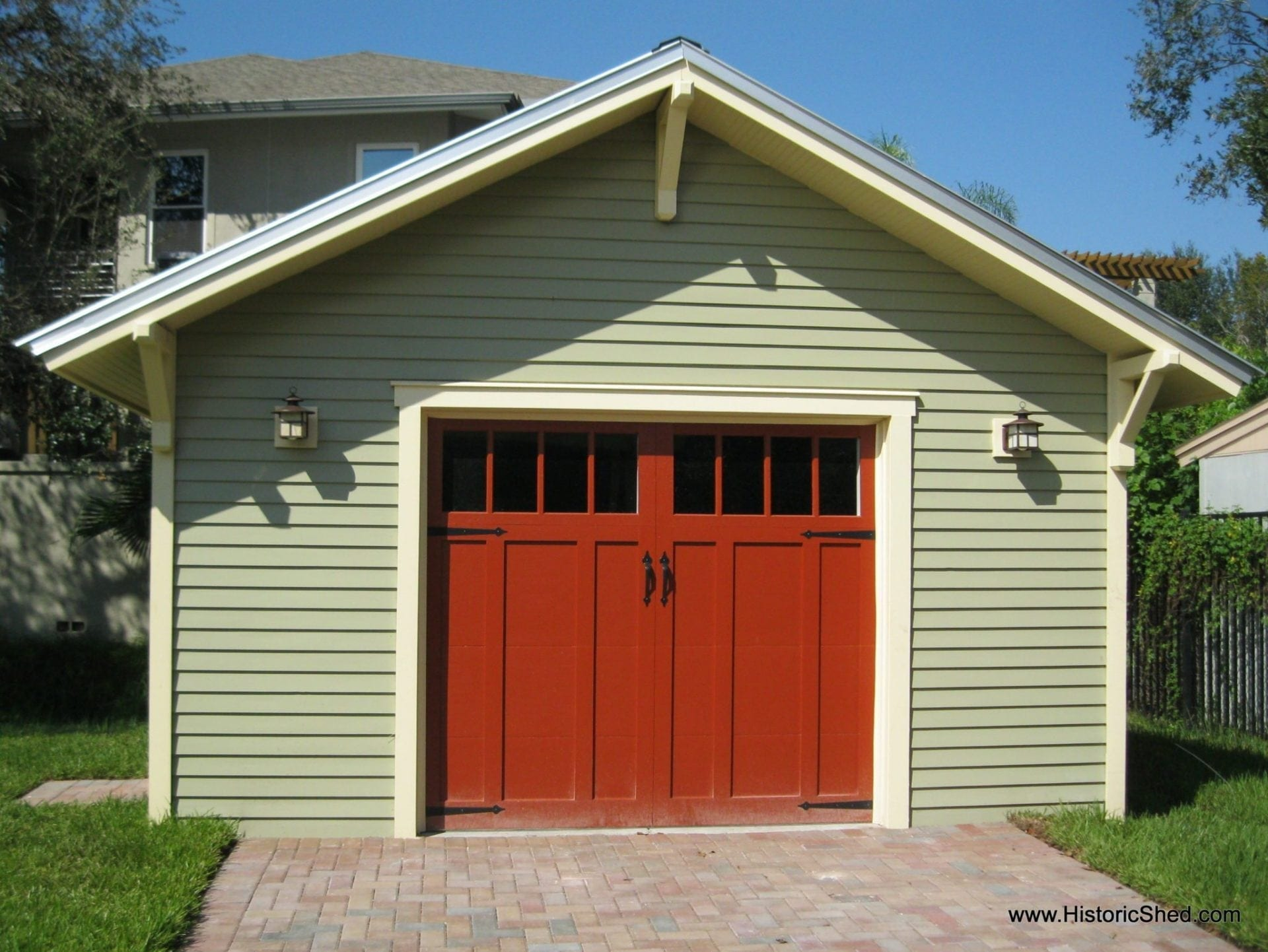 Custom two car bungalow garages for Craftsman style garage