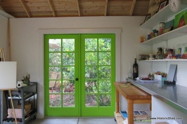 Artist Studio Shed Doors