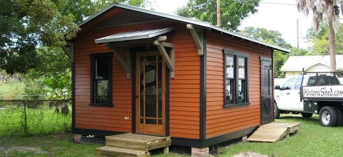construction of a detached building was a less expensive alternative to building an addition to her home moreover there was no construction inconvenience - Garden Sheds Florida