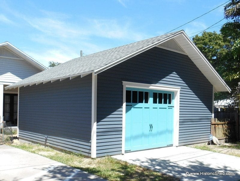 Two Car Garages Historic Shed Florida