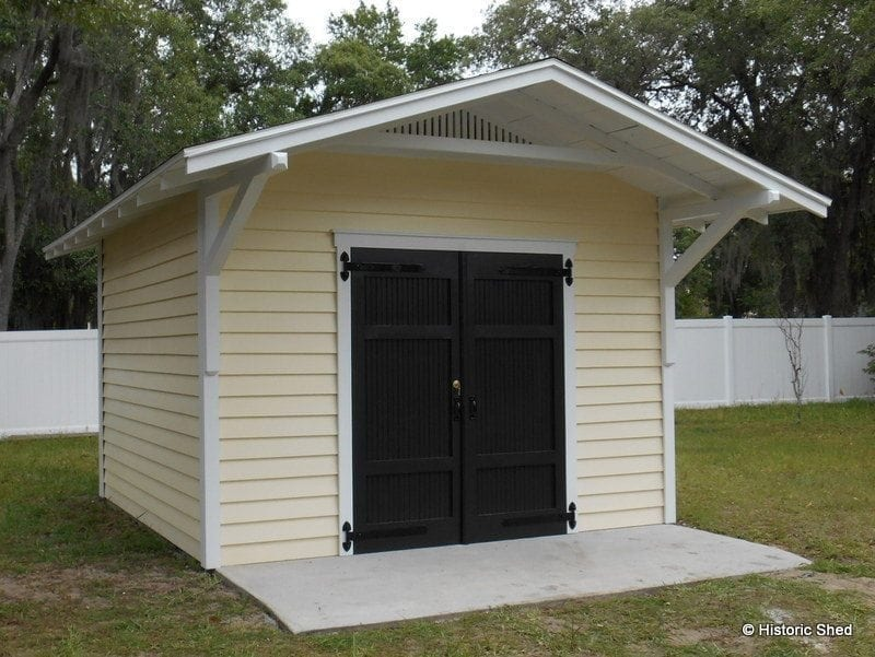 12 X12 Gable Shed With Roof Extension Historic Shed