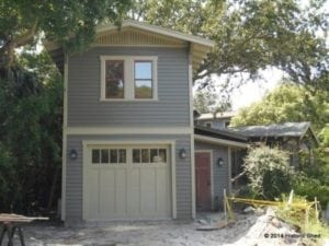 Two story one car garage apartment historic shed florida Two story garage apartment