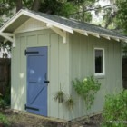 8'x10' Gable shed with board and batten exterior by Historic Shed