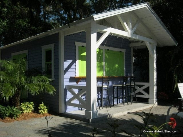 Custom Gable Pub Shed by Historic Shed