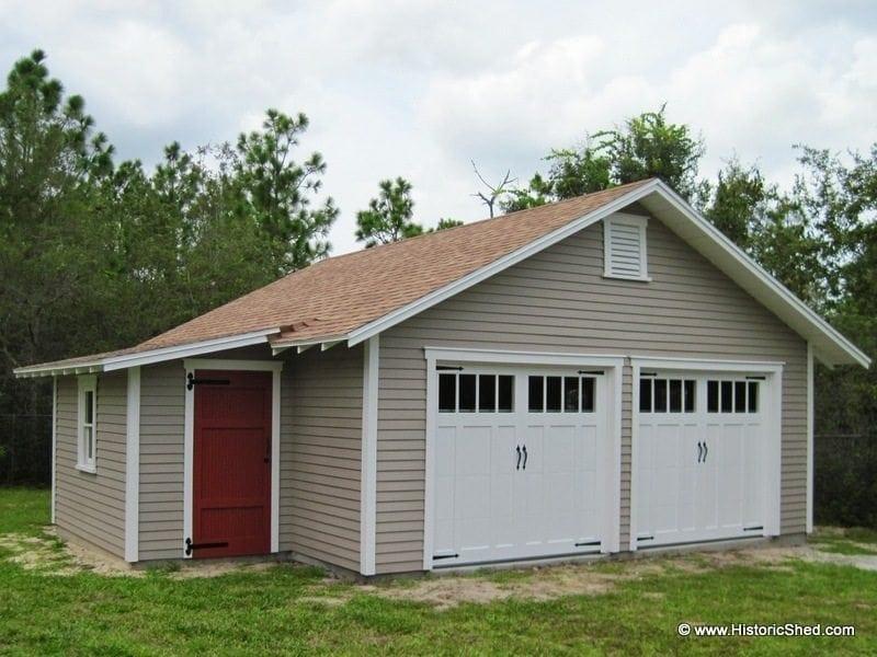 Two car garages historic shed florida for 2 car detached garage for sale