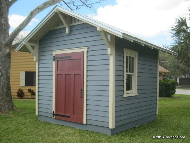 Craftsman shed historic shed for Craftsman style storage sheds