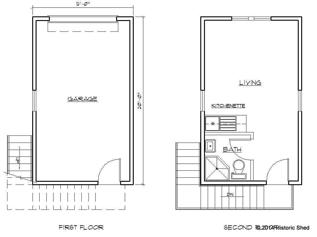 One Car Garage Apartment Plans. One Car Garage Plans
