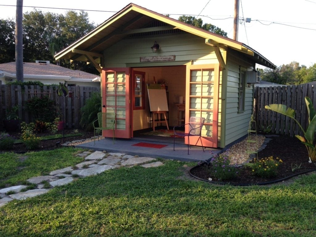 Sarasota artist studio shed historic shed for Backyard house kits