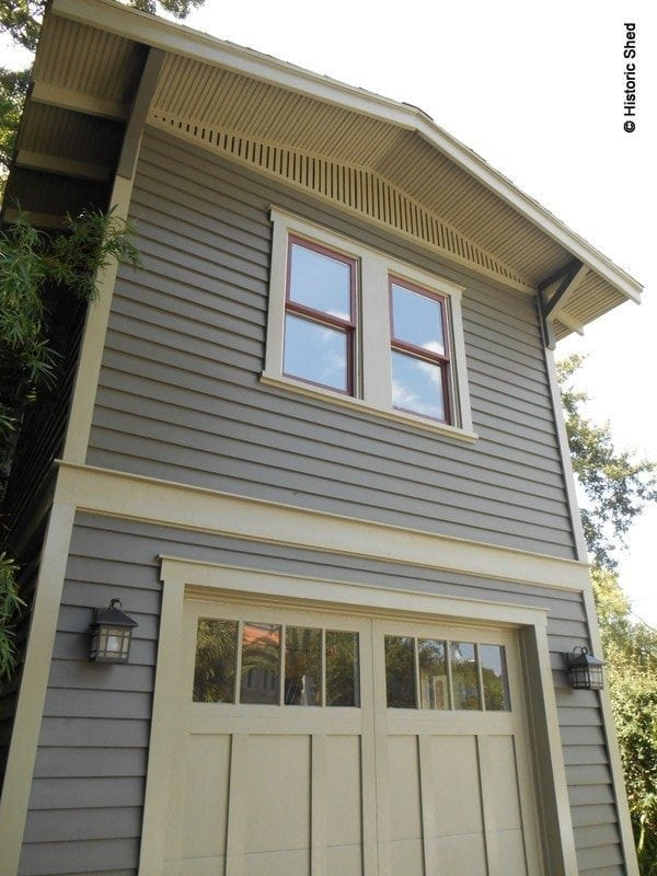 Historic Shed Goes Two Story Historic Shed: two story garage apartment