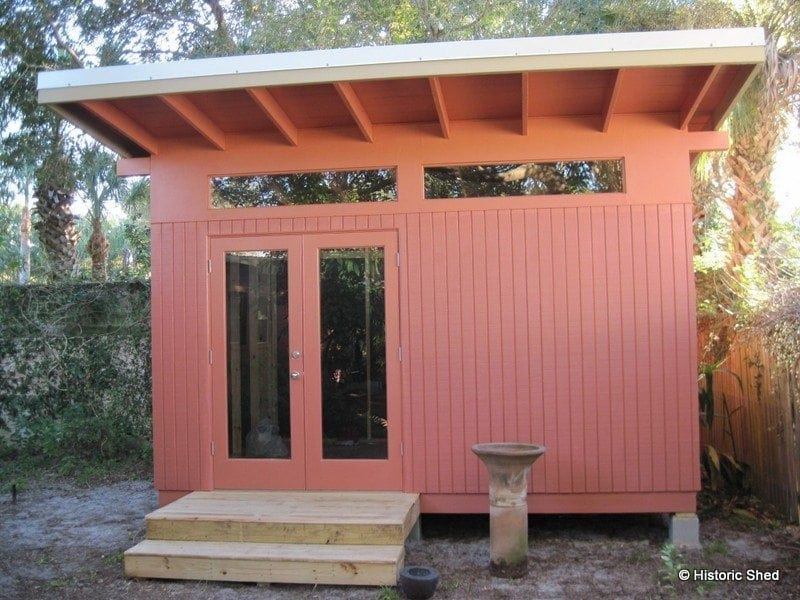 mid century modern home office shed historic shed florida