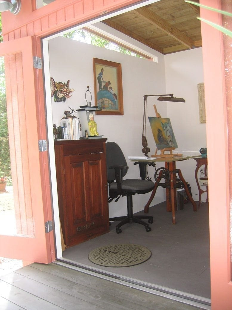 ^ Mid entury Modern Home Office Shed Historic Shed