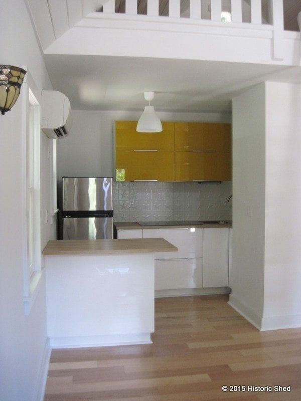 The customer choose Ikea cabinets for the kitchen