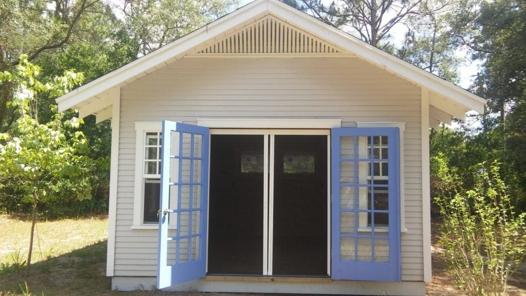 Historic Shed with Retractable Screen Door