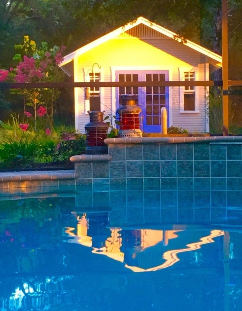 Shed by a Pool