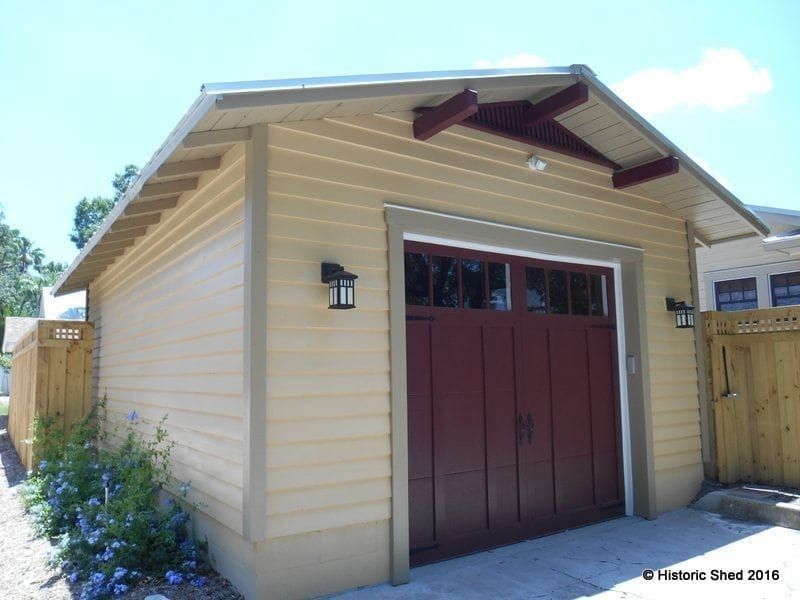Two car garages historic shed florida for 2 car garage shed