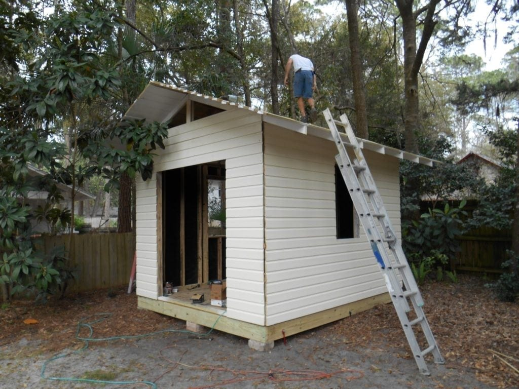 Historic Shed installation Gainesville Florida