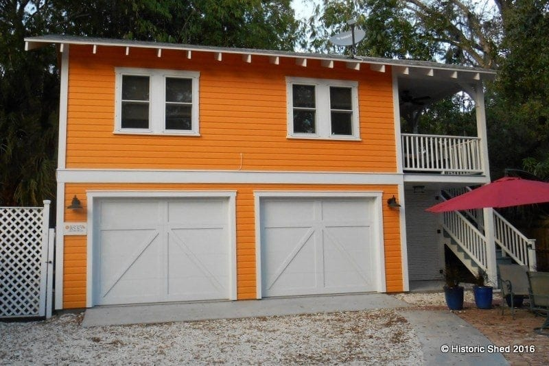 Two story two car garage apartment historic shed florida Two story garage apartment
