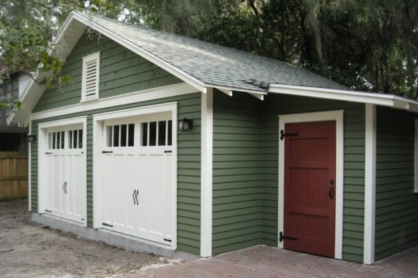 two car garage with attached workshop construction plans