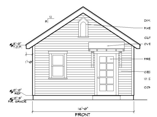 Starlet cottage construction plans historic shed for Cottage construction plans