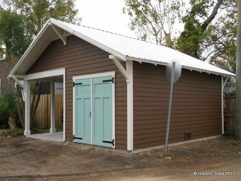 Carport shed historic shed florida for Sheds brooksville fl
