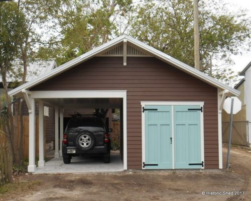 One Car Garage With Carport Tyres2c